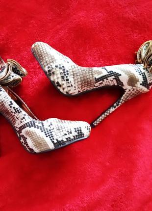 Новые туфли fiore wide fit с принтом змеиной кожи