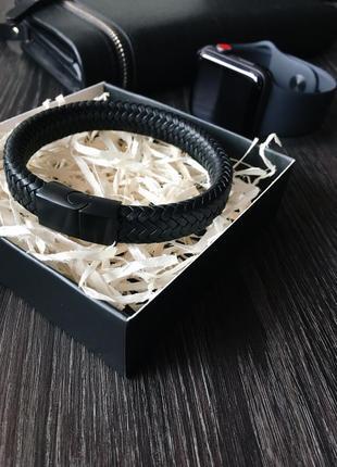 Мужской кожаный браслет (натуральная кожа)