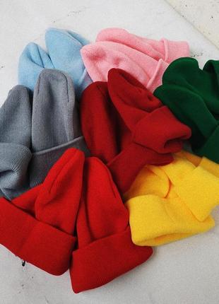 Базовая шапка бини разные цвета