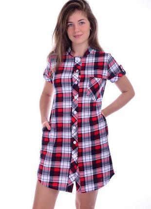 Рубашка женская удлиненная размер s multiblu