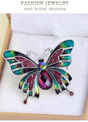Экслюзивная брошь бабочка