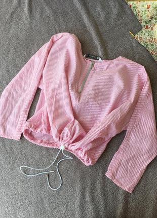 Супер блузка в полоску zara