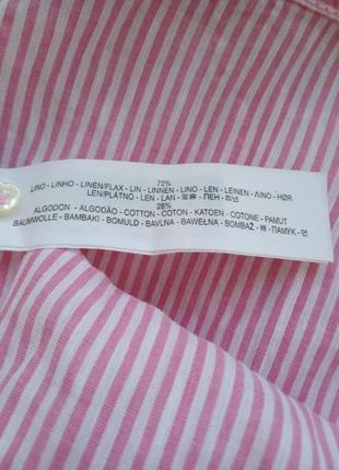 Льняная рубашка massimo dutti4 фото