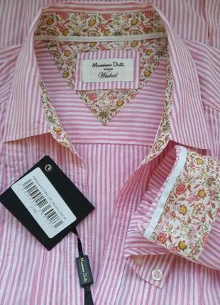 Льняная рубашка massimo dutti5 фото