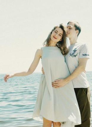 Летнее длинное оверсайз платье в идеальном состоянии