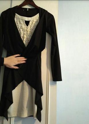 Гарне трикотажне плаття-кардеган