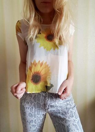 Чудова шифонова блуза з замочком ззаду від rare5 фото