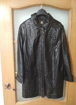 Шикарный плащ пальто куртка из кожи наппа от madeline, p. 16