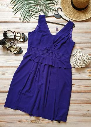 Летнее шифоновое платье с рюшей