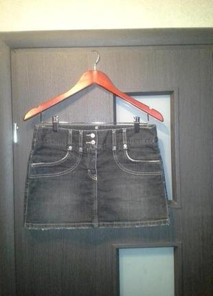 Джинсовая юбка sisley