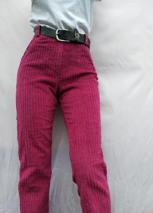 Очень стильные вельветовые штаны мом, высокая посадка.винтаж!