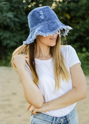 Панама джинсовая весна лето, распродажа!  шляпа в стиле бохо панамка шляпа
