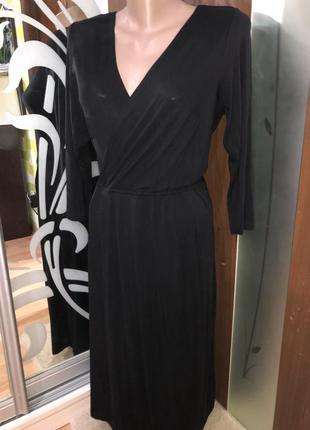 Чёрное стильное классическое платье бренд inwear