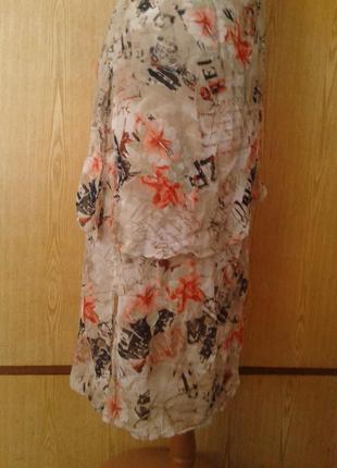 Крепдешиновое вискозное платье с разрезами по бокам,2хl.3 фото