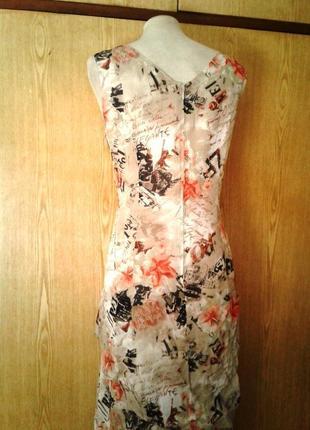 Крепдешиновое вискозное платье с разрезами по бокам,2хl.7 фото
