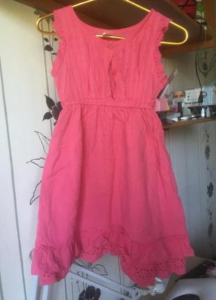 Миди платье с кружевом