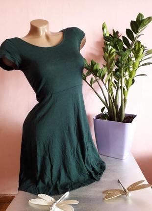 Платье/ цвет бутылки