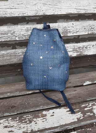 Натуральная плетеная кожа. крутой рюкзак в тренде итальянской моды