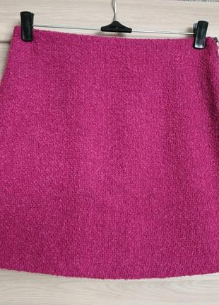 Теплая красивая юбка мини букле