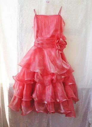 Нарядное воздушное платье на девочку 11-14 лет