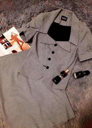 Клетчатый костюм юбка карандаш в клетку пиджак гусиная лапка клетка oodji
