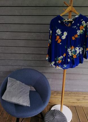 Легка блуза синього кольору / рубашка
