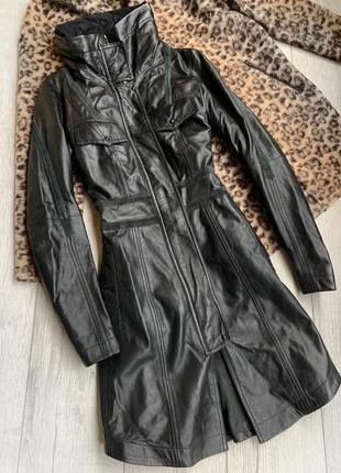 Кожаный натуральный плащ manebo італія,шкіряний плащ,пальто manebo італія