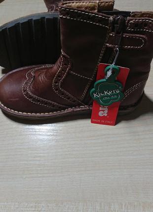 Новые итальянские детские ботинки kickers