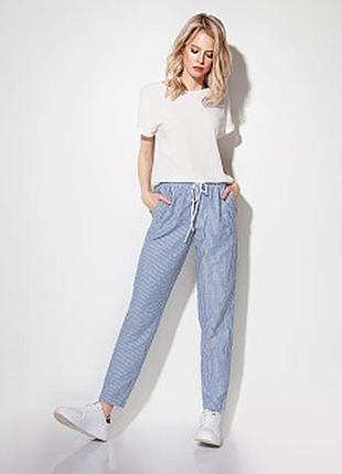 Льняные штаны в полосочку