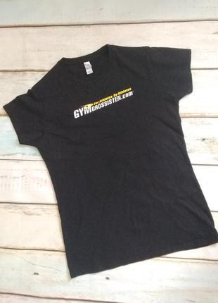 Черная футболка хлопок