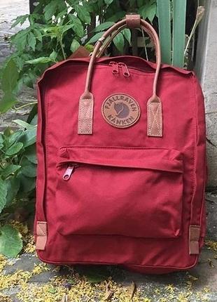 Рюкзак fjällräven kanken classic бордовый с коричневыми ручками