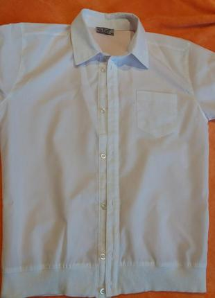 Біла рубашка з коротким рукавом