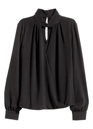 Блуза блузка с воротником стойкой чокер