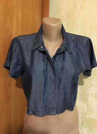 Джинсовая рубашка,топ на кнопках,100%lyocell