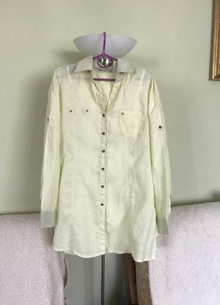 Льняная нежная рубашка