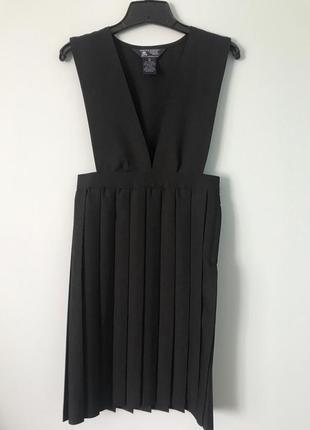 Чёрный школьный сарафан плиссе платье в школу сша french toast official school wear