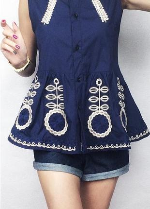 Блуза olko рубашечного стиля с орнаментом