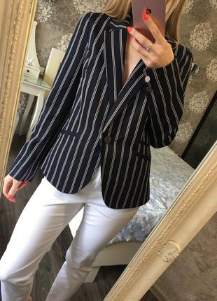Классический пиджак в полоску