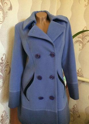 Шикарное стильное пальто с принтом осень весна