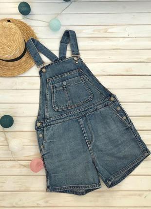 Стильный джинсовый комбинезон pull&bear