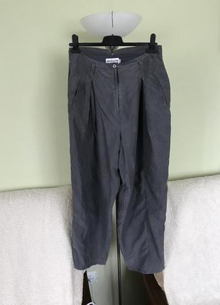 Шелковые брюки c ремнем marco visconti италия