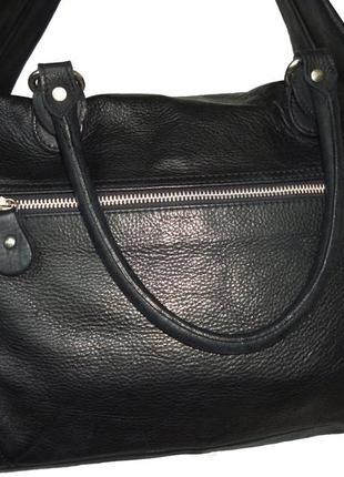 Шикарная большая сумка натуральная кожа италия