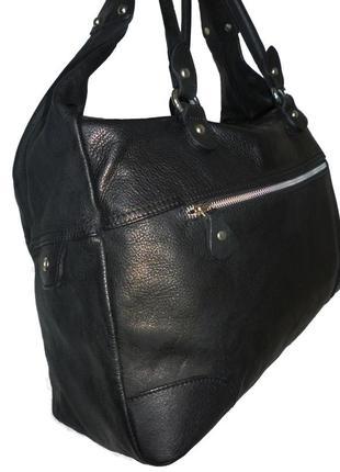 Шикарная большая сумка натуральная кожа италия2 фото
