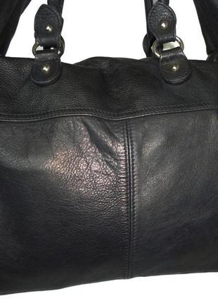 Шикарная большая сумка натуральная кожа италия3 фото