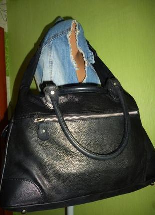 Шикарная большая сумка натуральная кожа италия4 фото