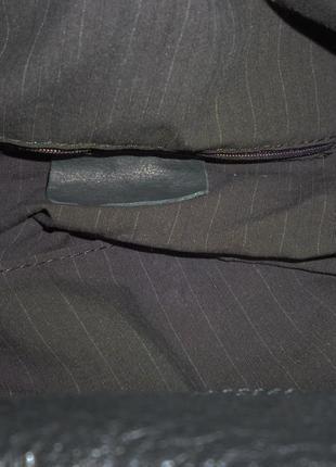 Шикарная большая сумка натуральная кожа италия5 фото