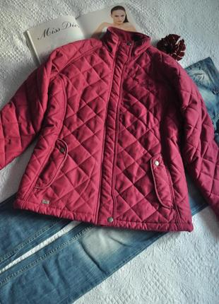 Стеганная курточка цвета фуксии м-л