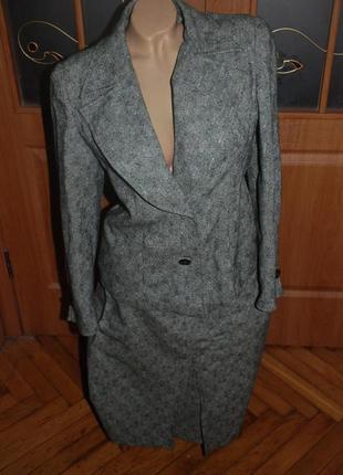 Шерстяной костюм тройка.(юбка-жилетка-пиджак)ручная работа. винтаж. эксклюзив.