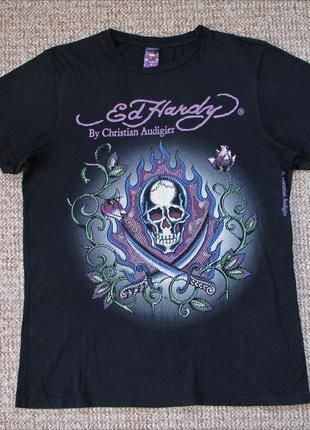 Ed hardy футболка made in usa оригинал (m)