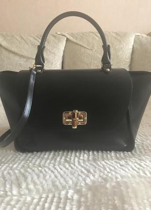 Итальянская фирменная кожаная сумка